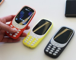 The new versions of the Nokia 3310 which has been unveiled at the Mobile World Congress (MWC) in Barcelona.
